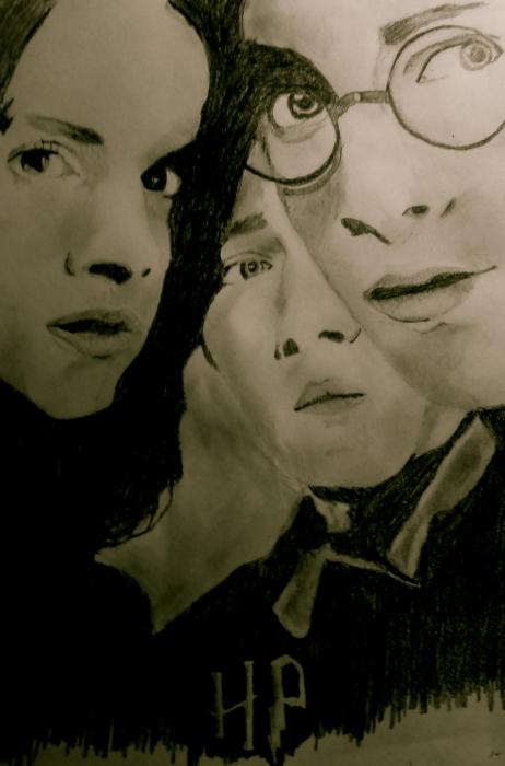 Daniel Radcliffe, Emma Watson, Rupert Grint par Boriskamarus